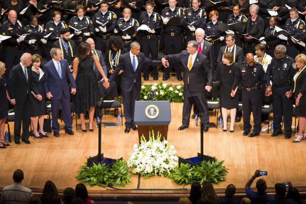 One more powerful photo among many from Tuesday's memorial, which also featured Vice President Joe Biden and former President George W. Bush.