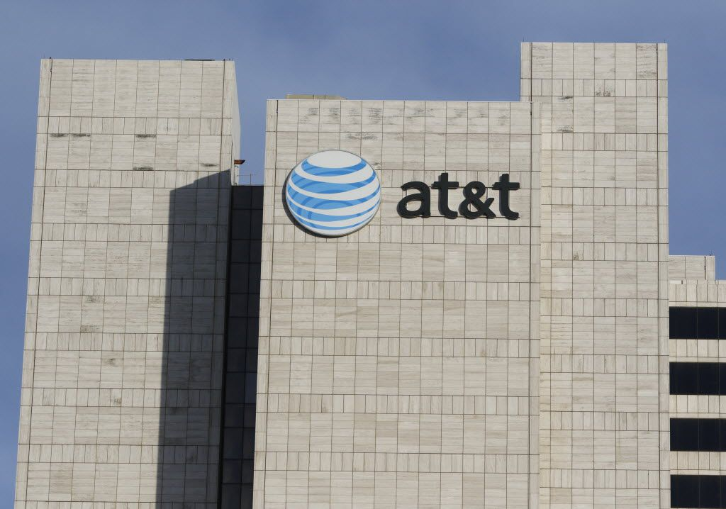AT&T corporate headquarters in downtown Dallas on Friday, January 15, 2016.