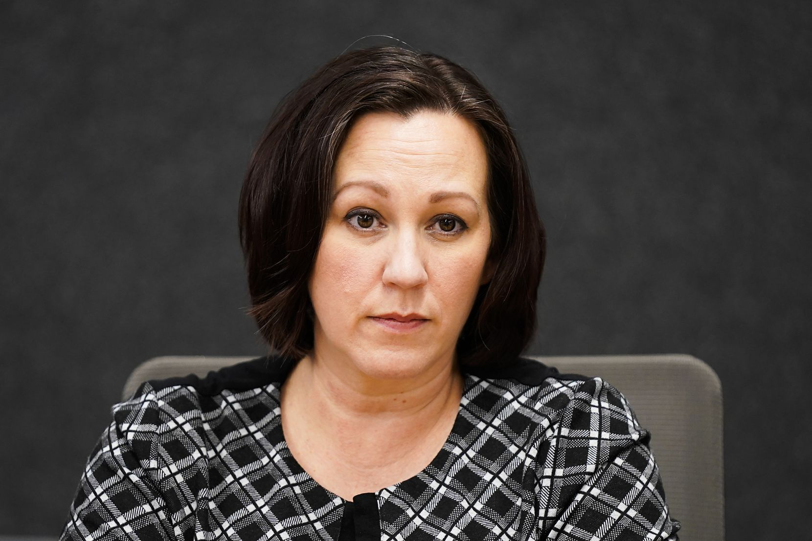 Democratic senate candidate MJ Hegar during a meeting with the The Dallas Morning News editorial board on Wednesday, Feb. 5, 2020, in Dallas. (Smiley N. Pool/The Dallas Morning News)