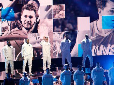 Team LeBron's Luka Doncic is introduced in the NBA All-Star 2020 game at United Center in Chicago on Sunday, February 16, 2020.
