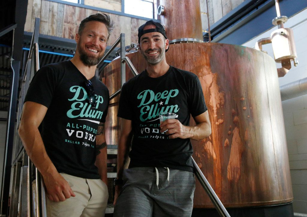 "John Reardon, founder and CEO of Deep Ellum Distillery, right, said he had been ""hanging on with bated breath"" to see if Congress would prevent the tax break from expiring. Also in the photo is business partner Andrew Welker."