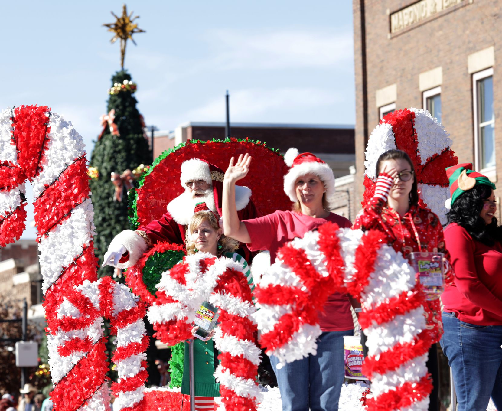 Lewisville's Old Town Holiday Stroll will include a parade with Santa, of course.
