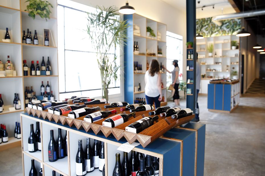 """Julie Buckner says she wants Bar & Garden to be a place of """"kindness and serenity."""" Here's a look at the existing shop, on Ross Avenue. When it moves to Haskell Avenue, the store will be designed with a similar vibe: natural wood tones and """"plants everywhere,"""" Buckner says."""