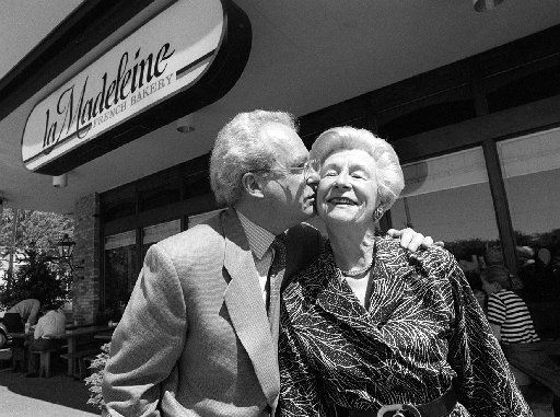 Did you know? La Madeleine was founded on Mockingbird Lane, near Southern Methodist University, in 1983. Here's founder Patrick Esquerré and his mother Monique, who helped him open the business.