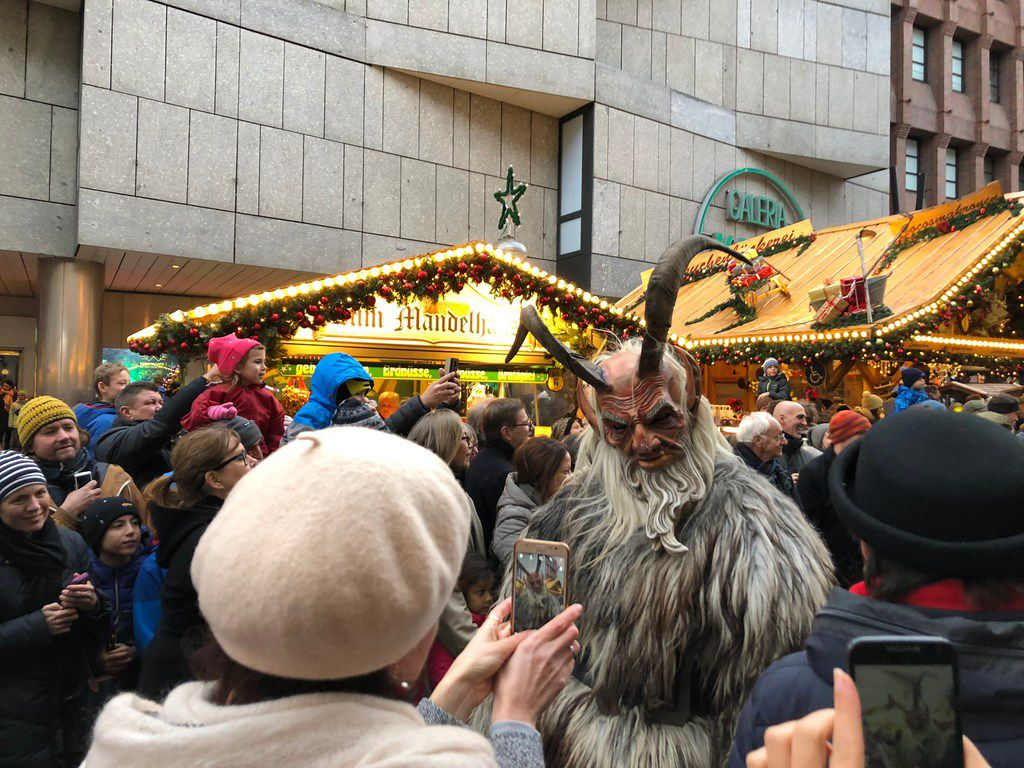 An enthusiastic crowd braved the light rain during Munich's Krampus run on Dec. 9. The Krampuses will parade through the city again on Dec. 23.