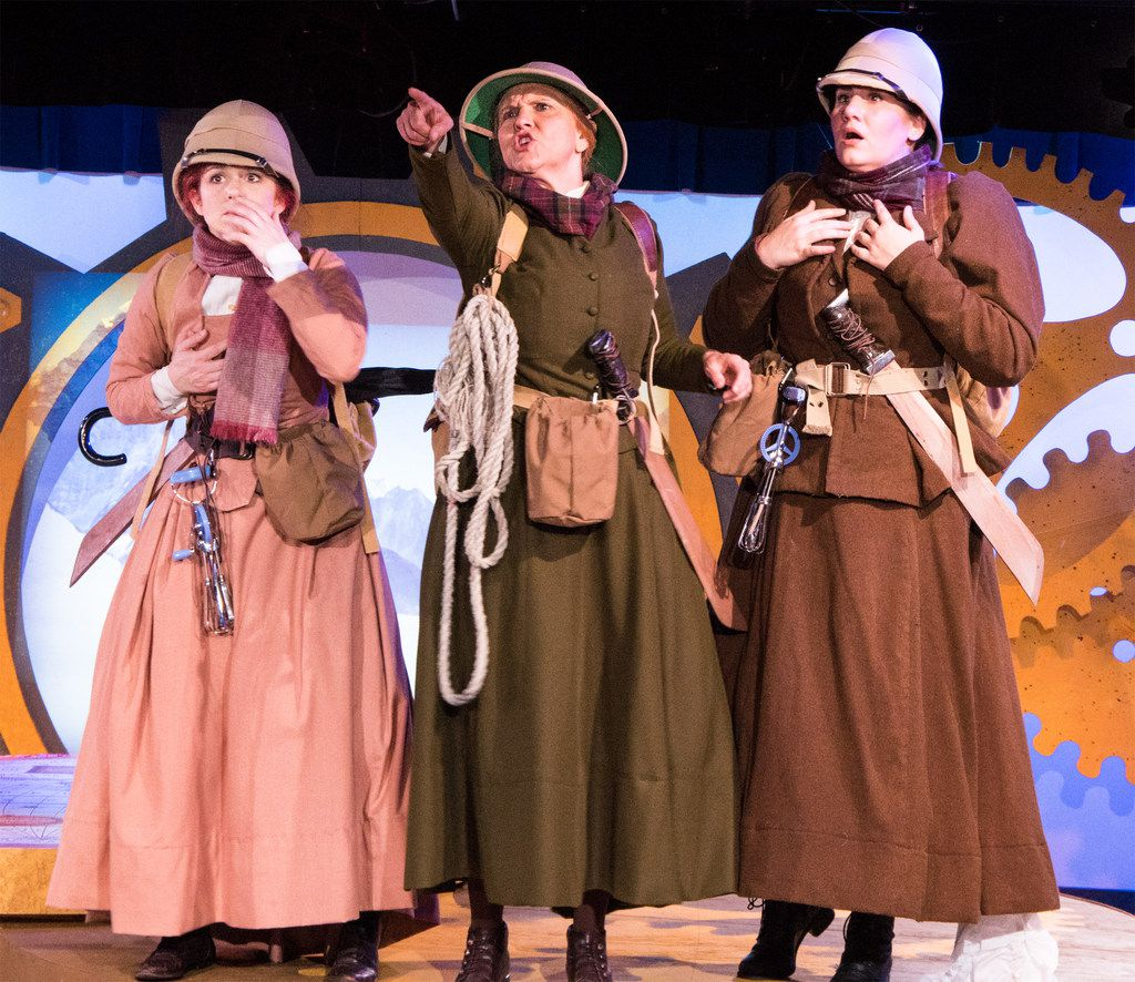 Jennifer Kuenzer, Marisa Diotalevi and Barrett Nash in WingSpan's On the Verge.