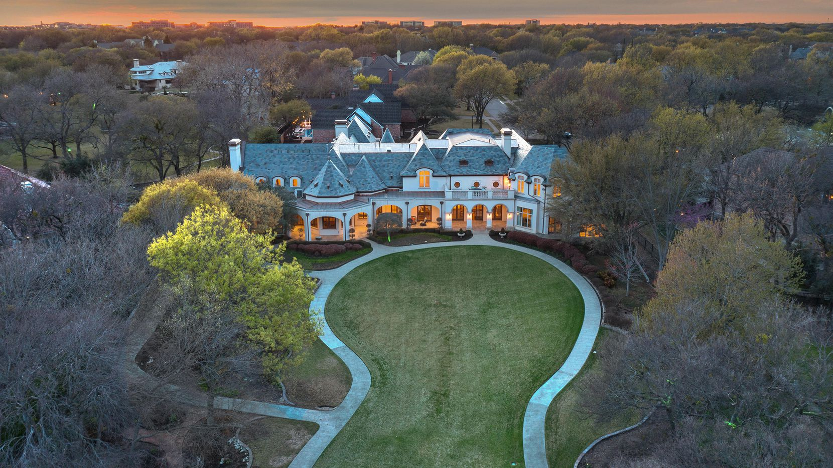 The 2.4-acre estate at 5504 Cavendish Court in Plano is listed at $4.7 million.