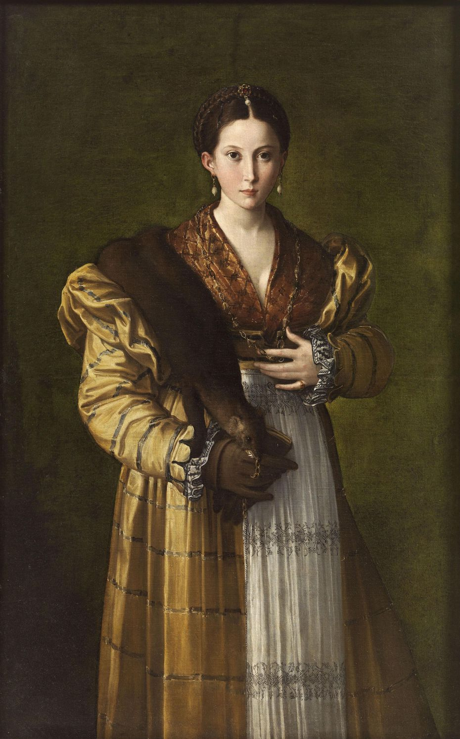 "Florentine master Parmigianino's ""Antea"" is reputedly a painting of his young mistress."