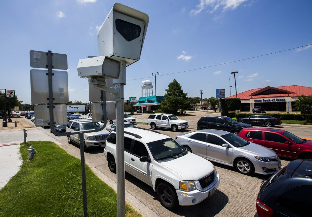 A red light camera at the intersection in Richardson.