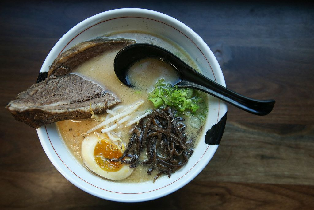 Goku Midnight Cowboy ramen, topped with a slice of brisket