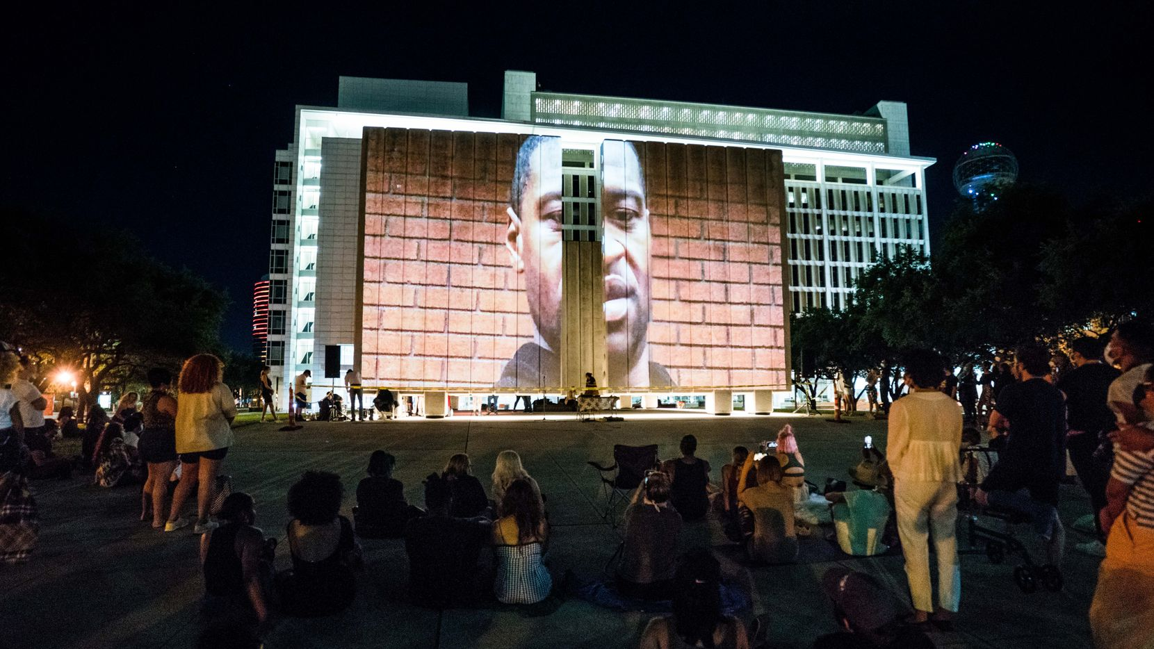 The Freedom Pt. II event on June 12 at JFK Memorial Plaza was a celebration of Black Lives Matter and Black Art Matters that included art, dance, panel discussion, 3D projections and a fashion show. It was organized by Dallas artist and fashion designer Charles Smith II.