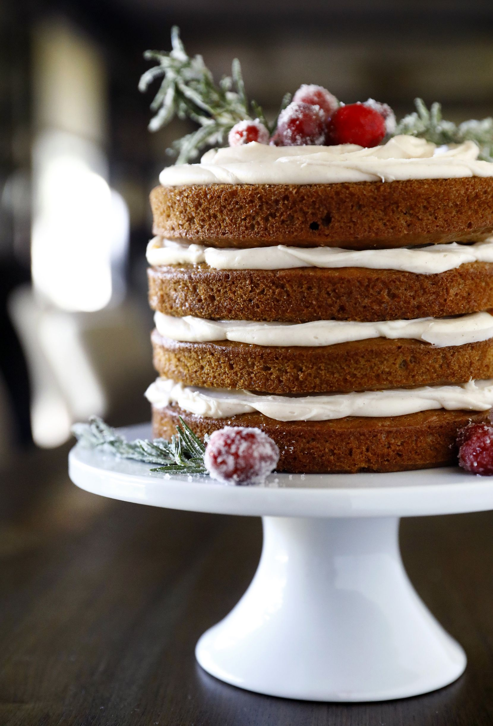 Gingerbread Layer Cake with Spiced Cream Cheese