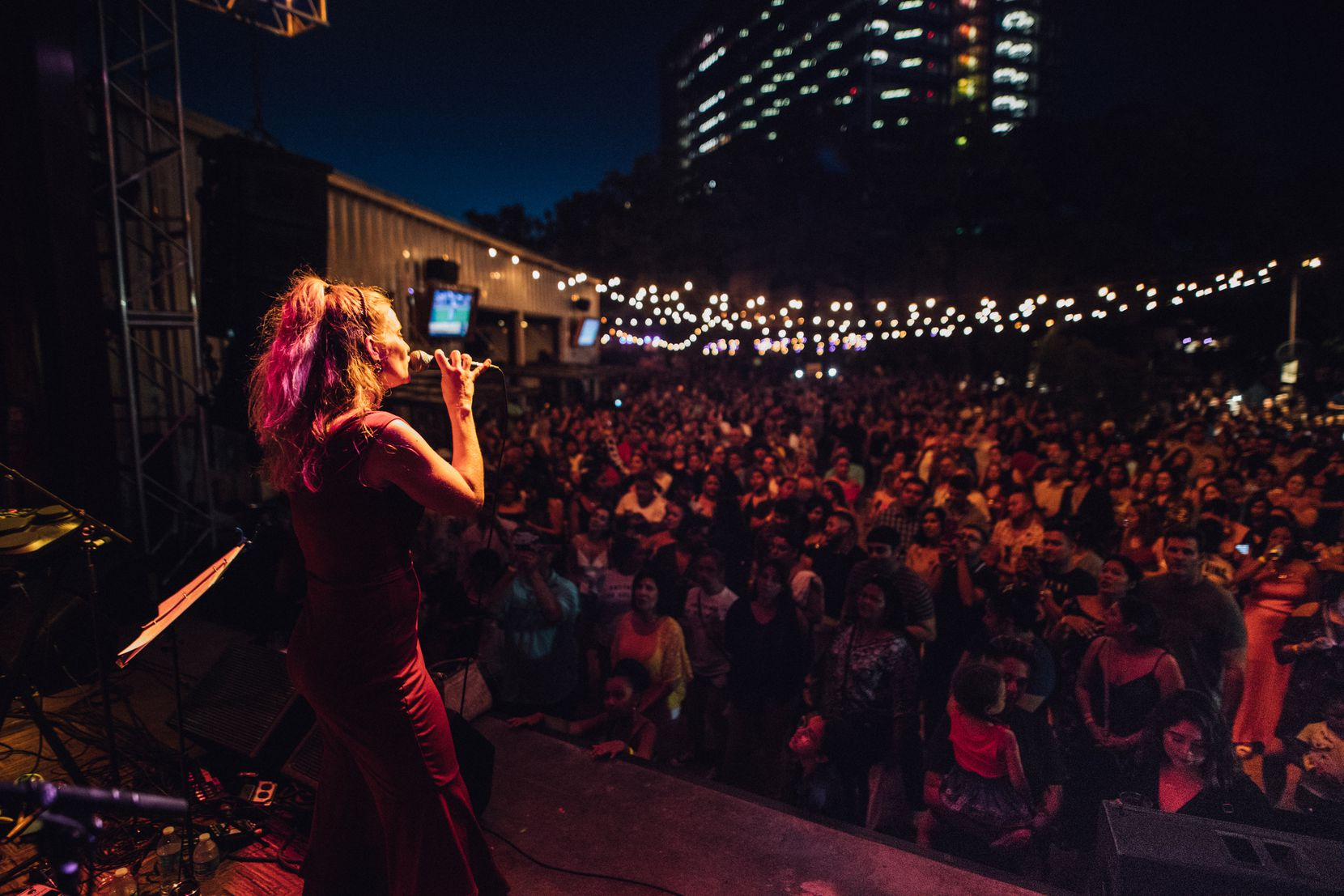 Performances from tribute and cover bands -- like this concert featuring Suzanna Choffel singing Selena songs at The Rustic -- draw big crowds in Dallas.