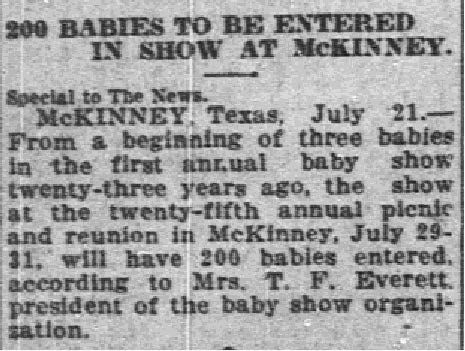 Snip of an article published in July 22, 1924.