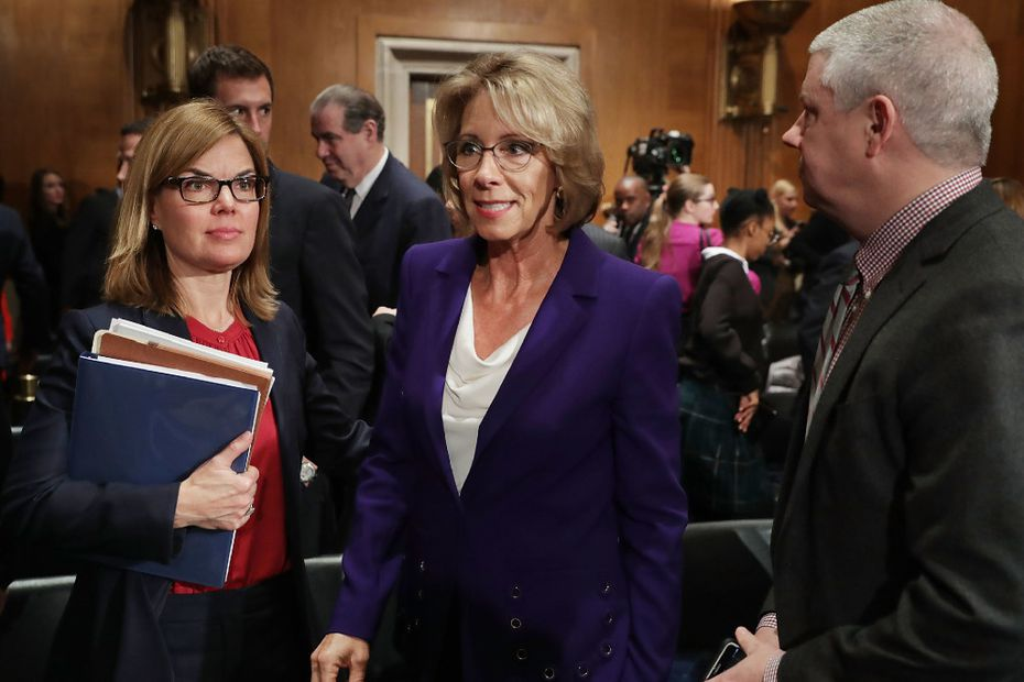 Betsy DeVos, President Donald Trump's pick for education secretary, attended her confirmation hearing in the Senate last week.
