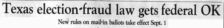 Headline from an article published Aug. 15, 1997