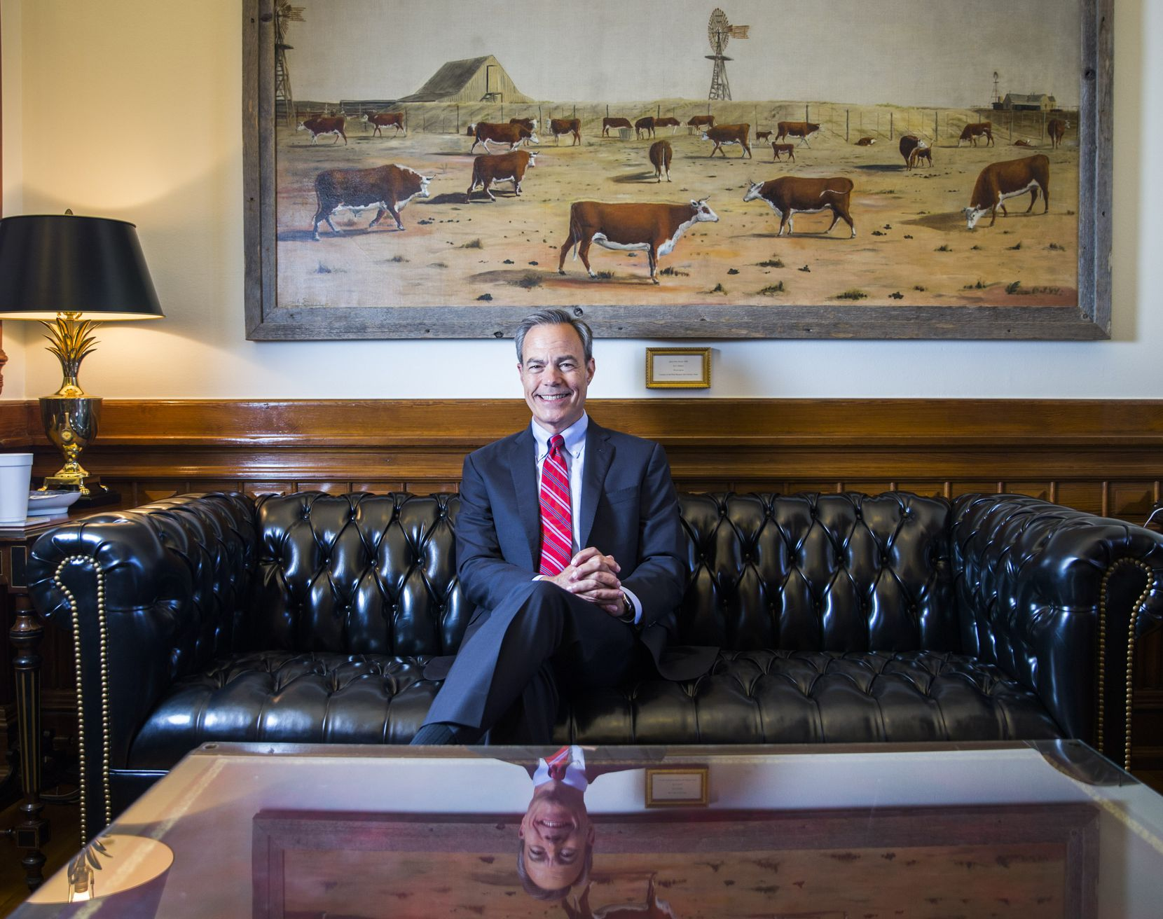 Speaker of the House Joe Straus poses for a portrait in his office on the third day of a special legislative session on Thursday, July 20, 2017 at the Texas state capitol in Austin, Texas.