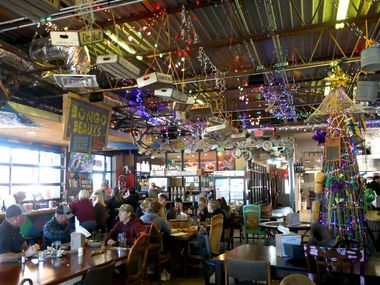 At Bongo Beaux's Bourre Palace & Cajun Kitchen in Celina, it's Mardi Gras all year long. The Christmas tree made out of beads never comes down.