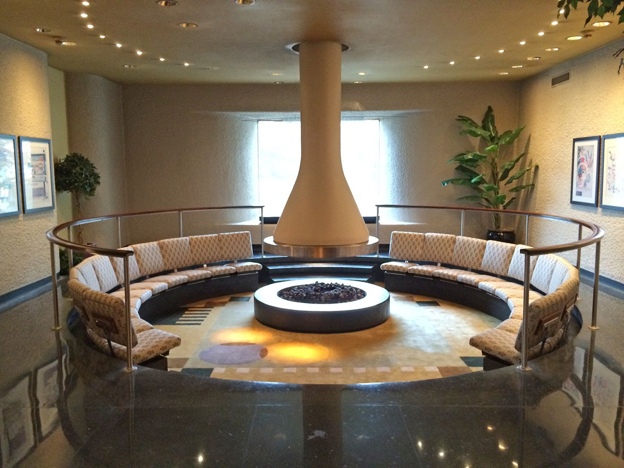 Conversation pit of the former  Braniff Hostess College.
