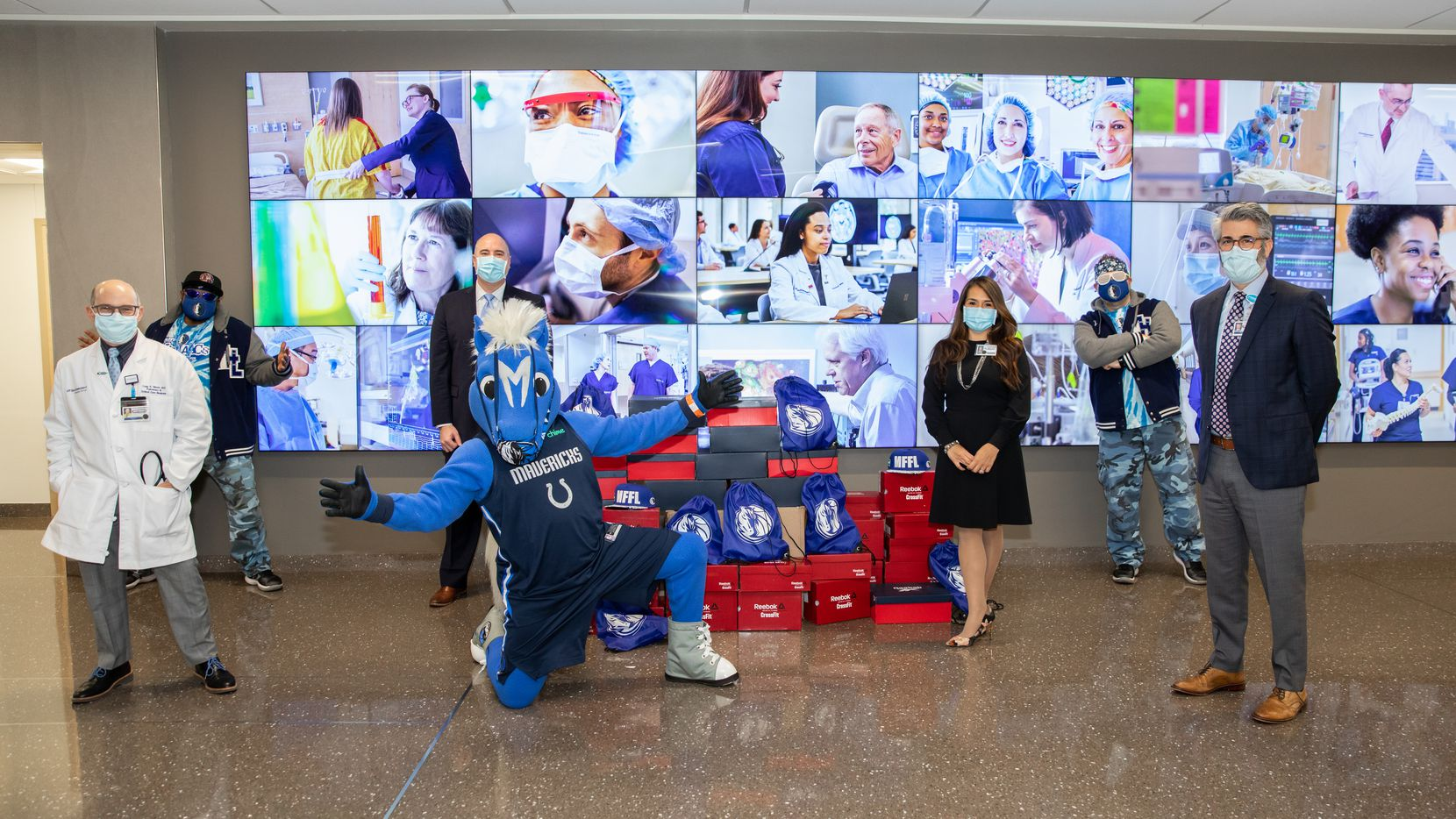 Dallas Mavericks guard Josh Richardson donates 40 pairs of tennis shoes to the medical frontline workers at the Dallas-based UT Southwestern Medical Center.