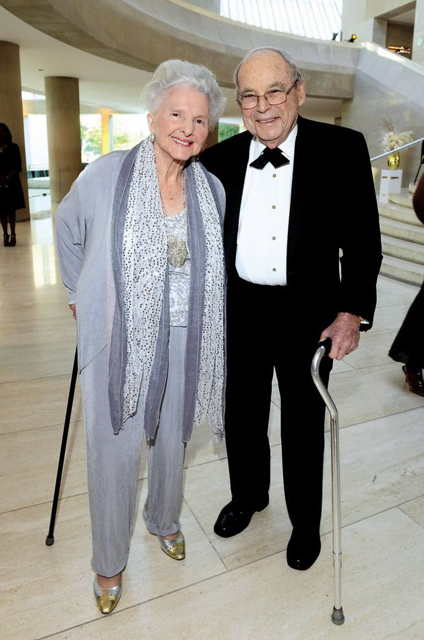 Caroline Rose Hunt, Robert Brackbill Sr. at the Dallas Symphony Gala benefiting the DSO in 2015.