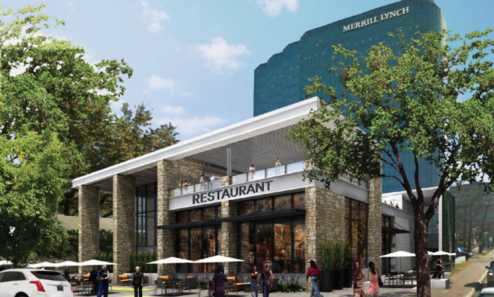 The Crossing development includes almost 90,000 square feet of retail space.