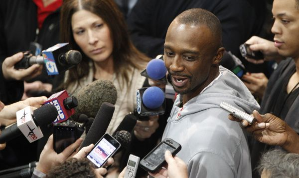 Dallas Mavericks basketball player Jason Terry smiles while speaking to the media at the team practice facility in Dallas, Thursday, Dec. 1, 2011.