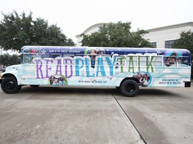 The ReadPlayTalk bus was unveiled this year. It's part of a Mesquite ISD initiative encouraging early childhood literacy.