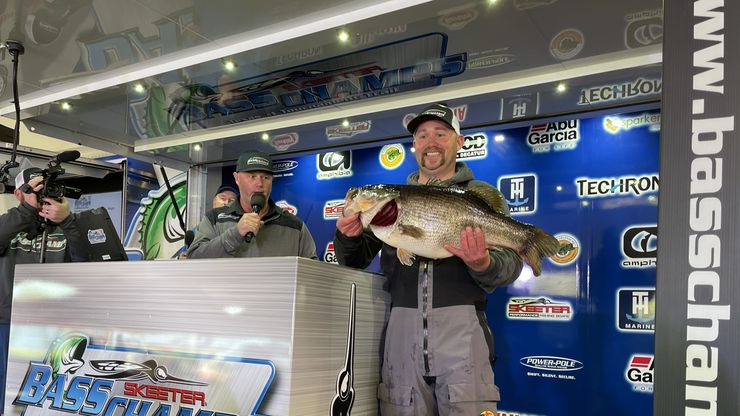 Tanner Spurgin of McKinney picked a good time to reel in his personal best bass, a 15.27-pounder. Spurgin caught the fish off a spawning bed during the March 28 Bass Champs Mega Bass event at Lake Fork. He won new Skeeter bass boat and $15,000 cash. The fish was one of five 15-pounders turned over to the Toyota ShareLunker program during the 2021 collection season, which ended March 31.