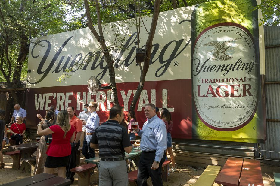 Katy Trail Ice House has a big sign up: Find Yuengling beer here!