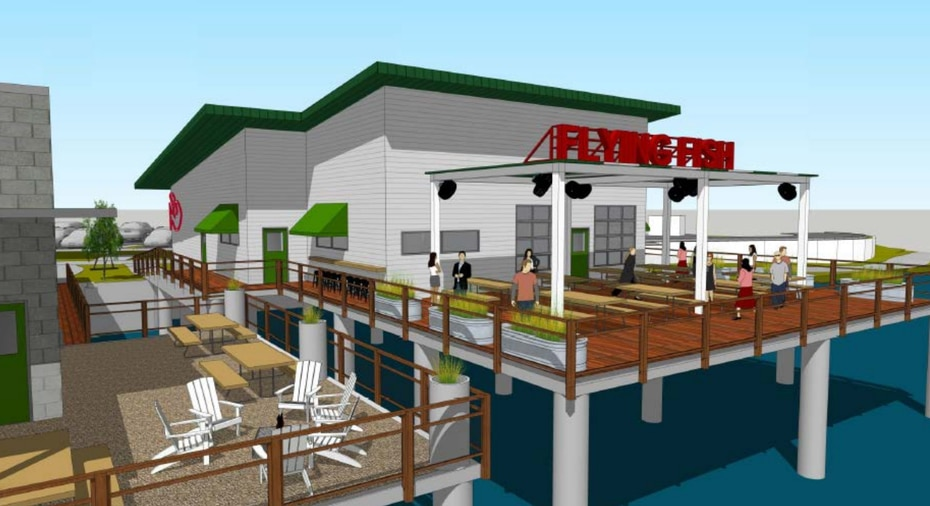 Flying Fish and Rodeo Goat will be located next to one another. Both will be built out over the water.