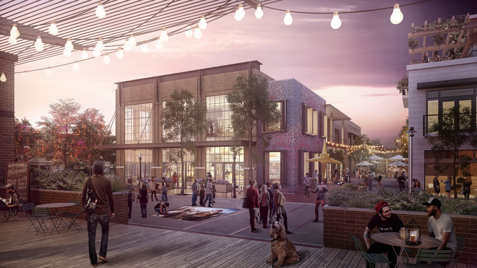 The Bishop Arts development is planned to include a mix of retail, apartments and commercial.