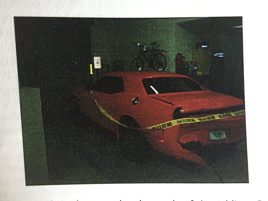 The 2014 Dodge Challenger driven by teens Jose Cruz and Edgar Rodriguez, both 16. Jose was fatally shot and Edgar was injured after they were shot by an off-duty police officer. Ken Johnson, who later resigned, was arrested on charges of murder and aggravated assault.