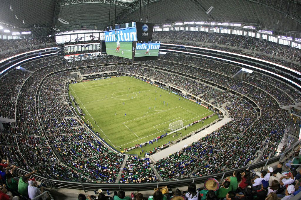 05 June 2011:  Fans during the CONCACAF Gold Cup soccer matches between Mexico versus El Salvador and Costa Rica versus Cuba at Cowboys Stadium in Arlington, Texas.   The attendance was a sellout of  80,108.