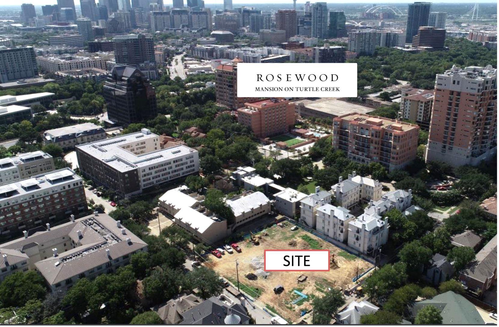 The development site is on Dickason Avenue near Cedar Springs Road.
