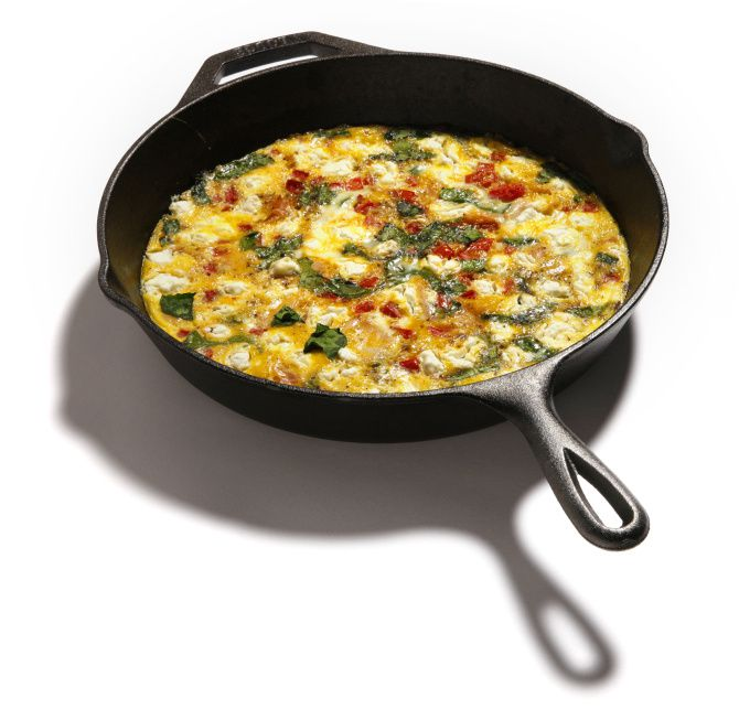 Frittatas can be made with lots of different ingredients.