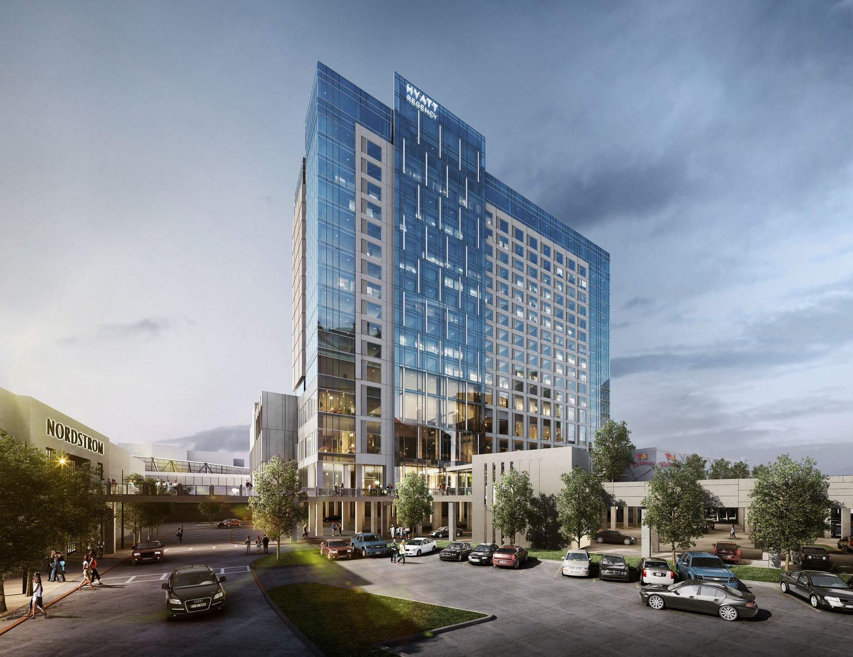 Sam Moon Group is building a 17-story Hyatt Regency Hotel at Frisco's Stonebriar Center shopping mall.