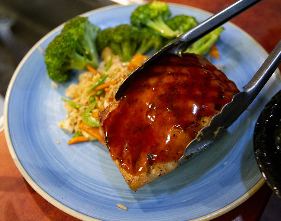 Maguire's maple-ginger salmon is one of its more popular dishes.