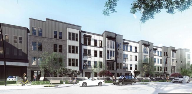 An artist's rendering shows the design of a new apartment complex to be built at 910 Spring Valley Plaza in Richardson.