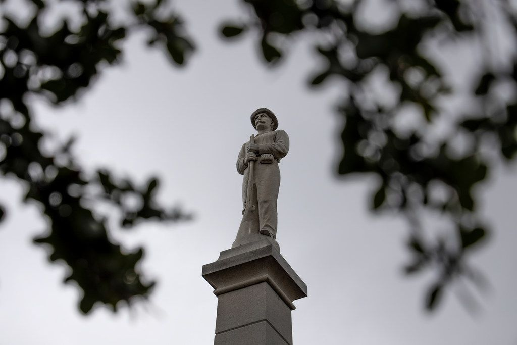 The Confederate War Memorial in Downtown Dallas.