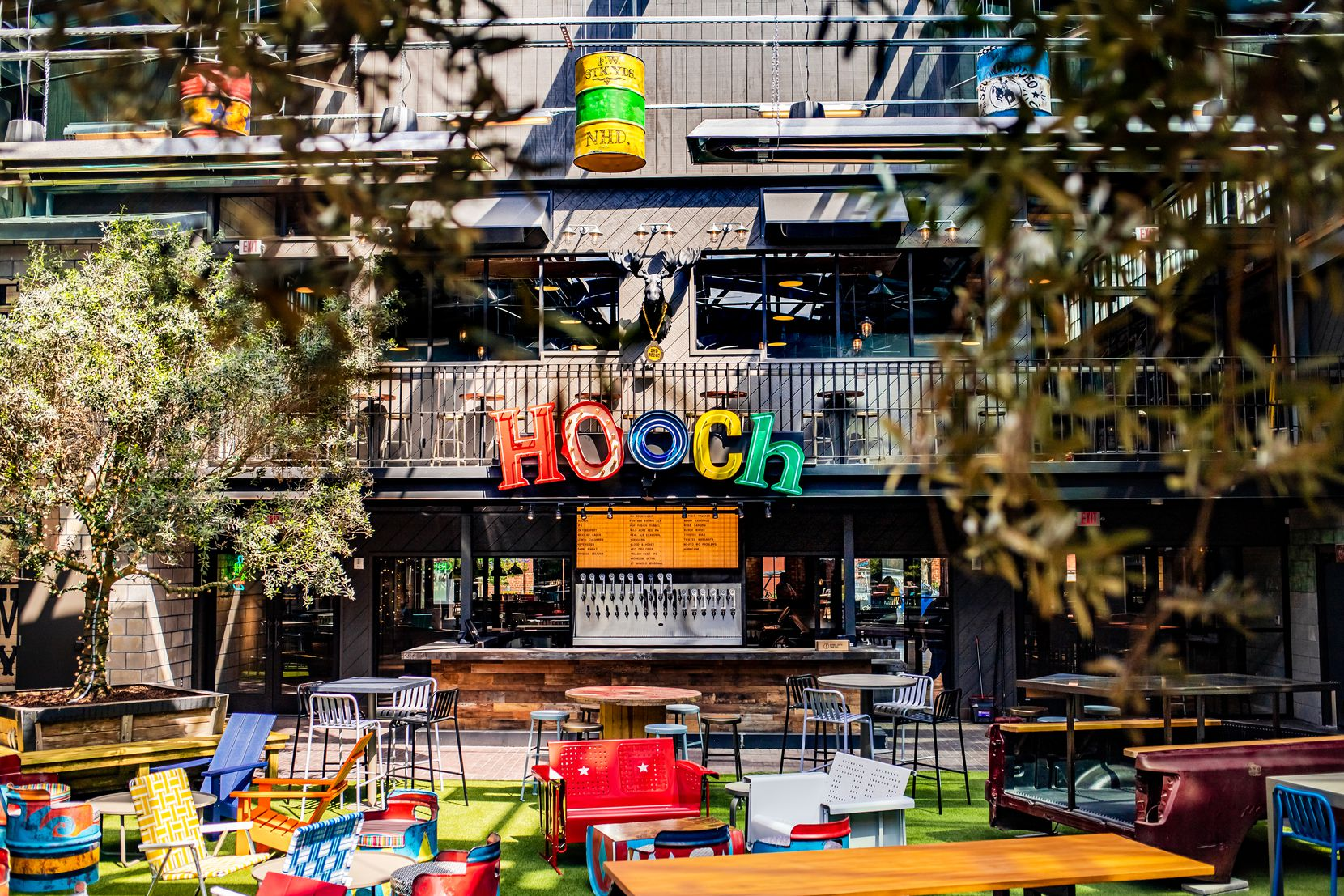 """Second Rodeo Brewing's in-house brewery is joined by an enclosed patio """"bar garden"""" with a retractable roof."""