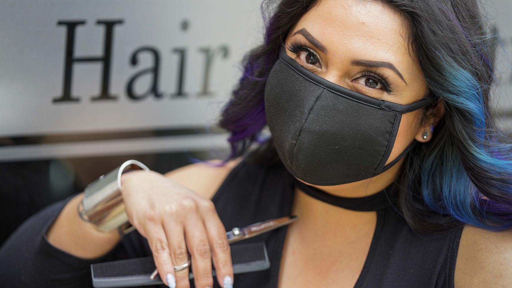 Hairdresser Lindsay Stone returned to work on May 8 in Richardson. She said she thinks one of the reasons why Dallas has been talking about haircuts so much during the pandemic is because of the feeling you have after getting one.