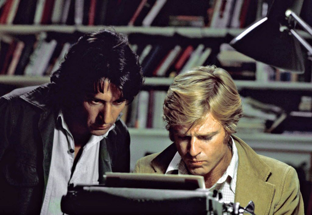 Dustin Hoffman, left, played Carl Bernstein to Robert Redford's Bob Woodward in the movie All the President's Men. Hoffman played opposite Robert Walden in the scene about Watergate dirty trickster Donald Segretti.