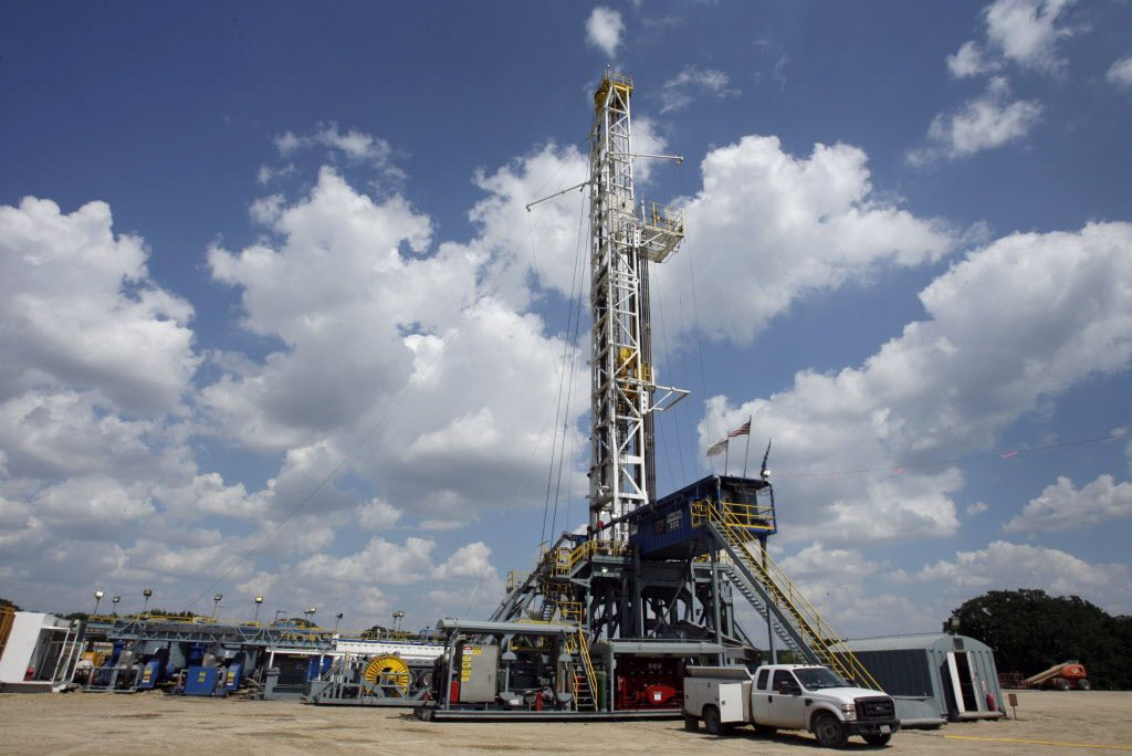 In 2010, it wasn't uncommon to see drilling sites going up in the Barnett Shale, like this location in Flower Mound. (DMN file photo)