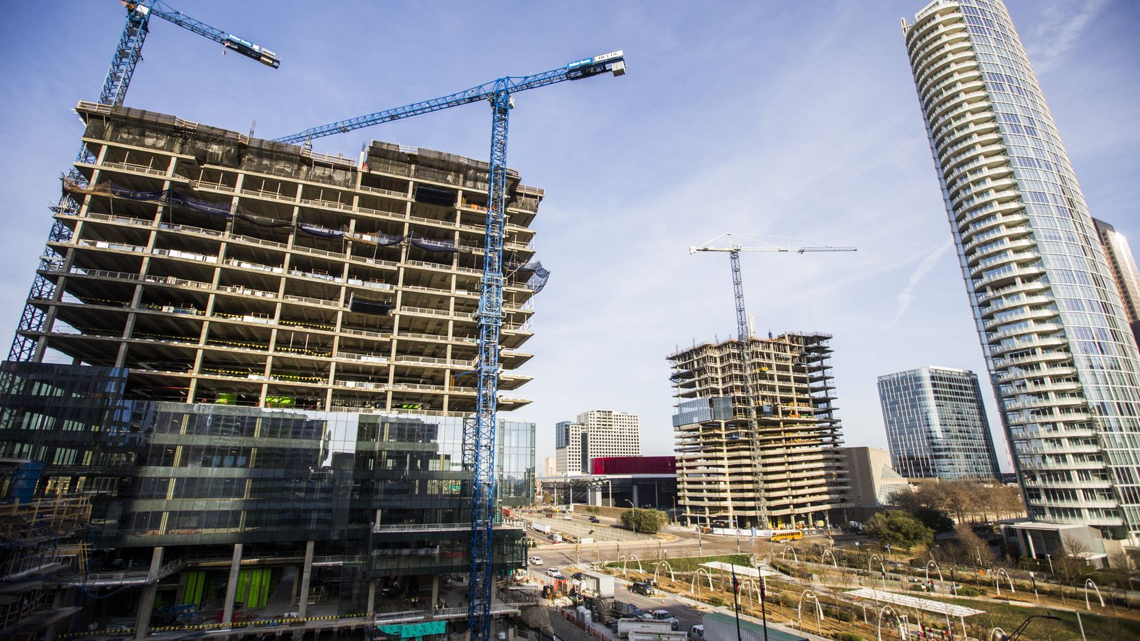 Almost 6 million square feet of office space is being built in the Dallas-Fort Worth area, one of the highest construction volumes in the country.