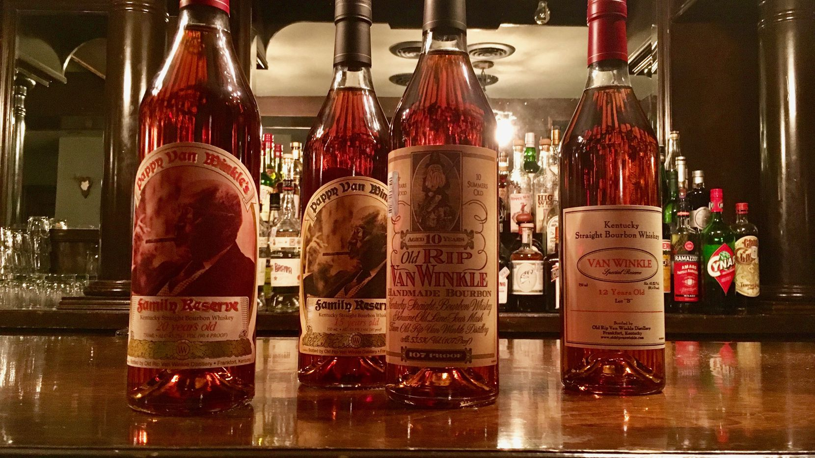 Henry's Majestic, a bar and restaurant in Dallas, will be offering a four-course whiskey tasting of four kinds of coveted Pappy Van Winkle whiskey.
