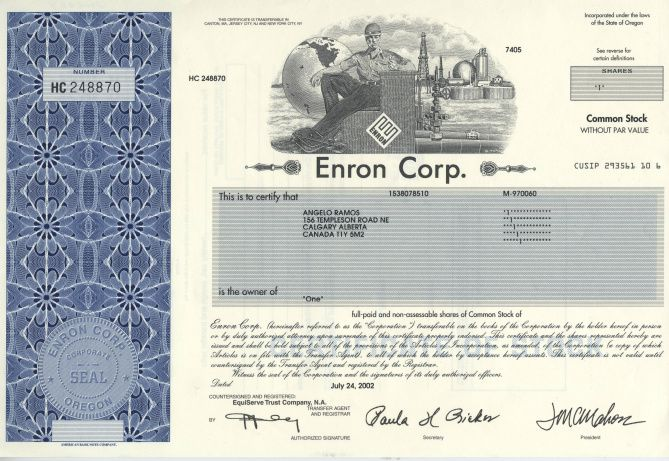 #3 Enron was the biggest failure of an energy company ever.