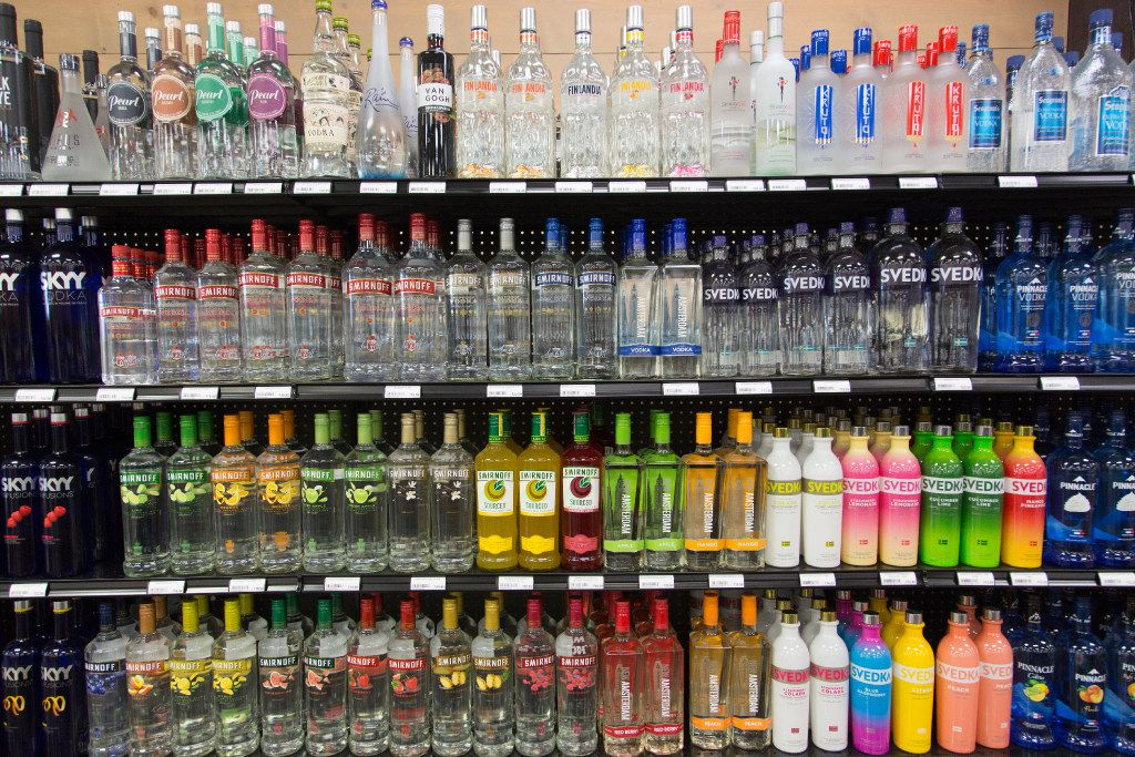 Texas Alcoholic Beverage code allows only privately owned retailers to sell liquor in the state. Publicly traded retailers such as Walmart, Costco, Walgreens and Kroger are excluded from doing so in Texas.