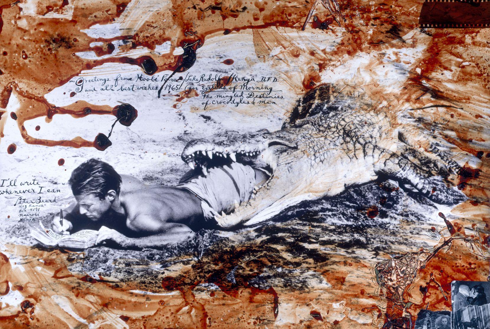 "Peter Beard ""I'll Write Whenever I Can, Koobi Fora, Lake Rudolph, Kenya,"" 1965/2004"