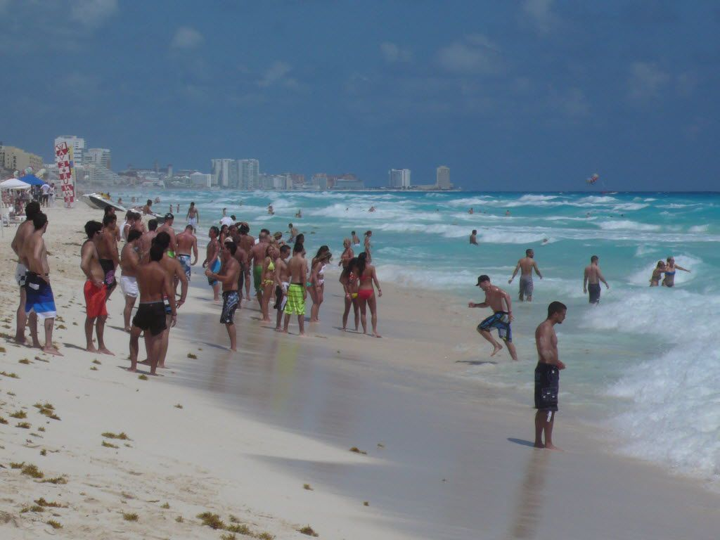 CANCUN: At least 5,300 spring breakers are expected alone in one of the Cancun hotels, a reflection that the resort city is poised to make a comeback. (Alfredo Corchado/Staff)